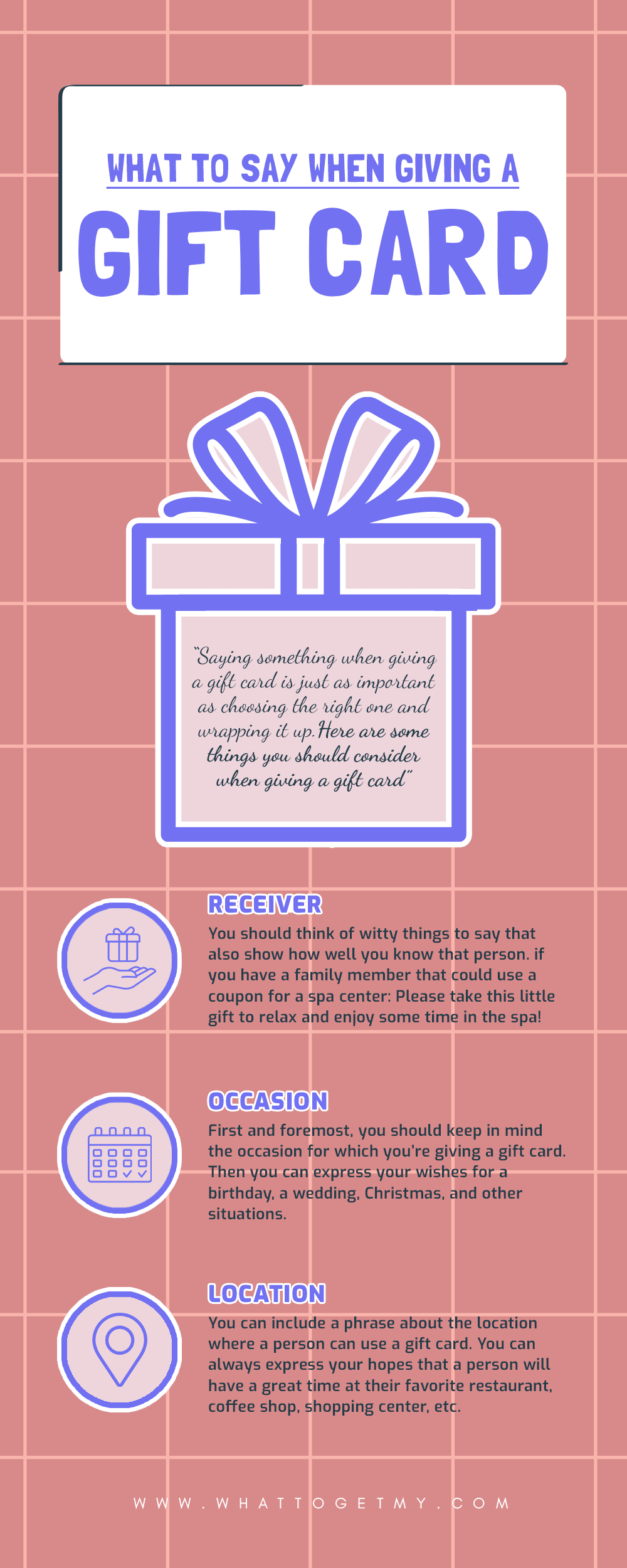 Infographic What to Say When Giving a Gift Card