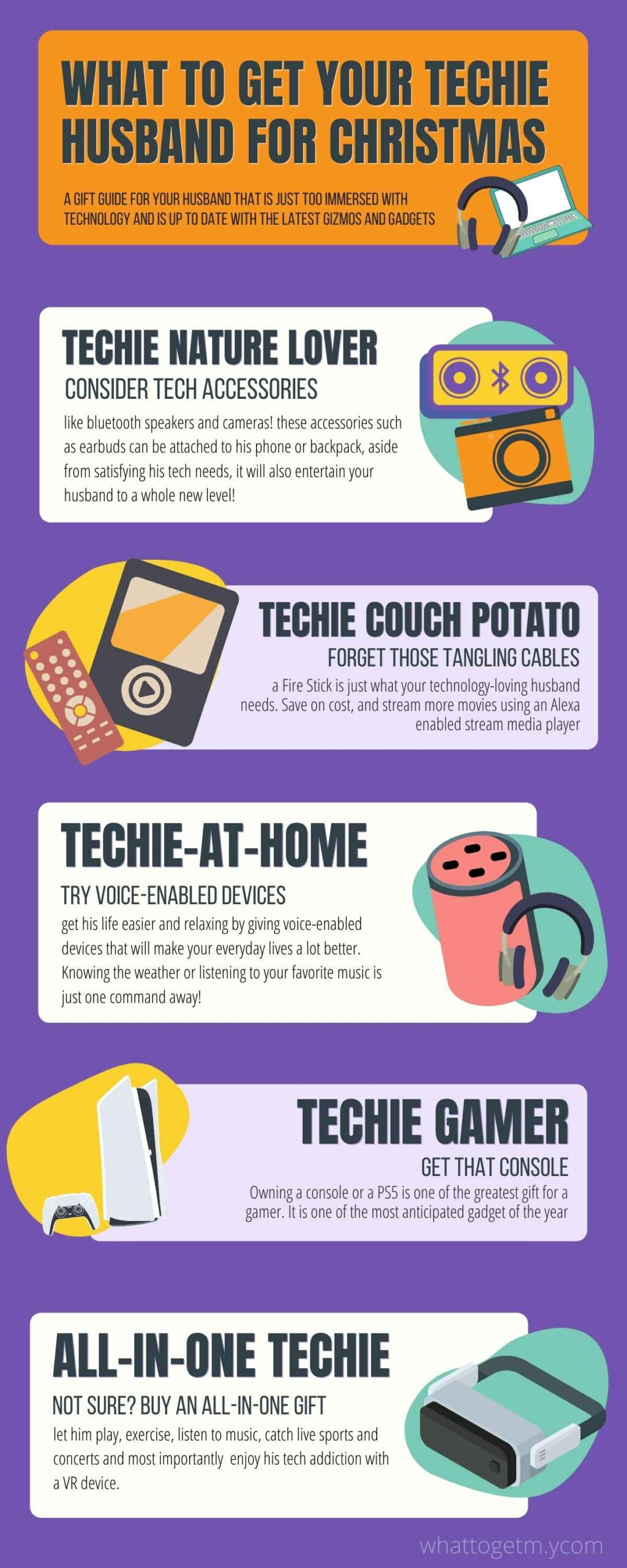 WHAT TO GET YOUR TECHIE HUSBAND FOR CHRISTMAS Infograph