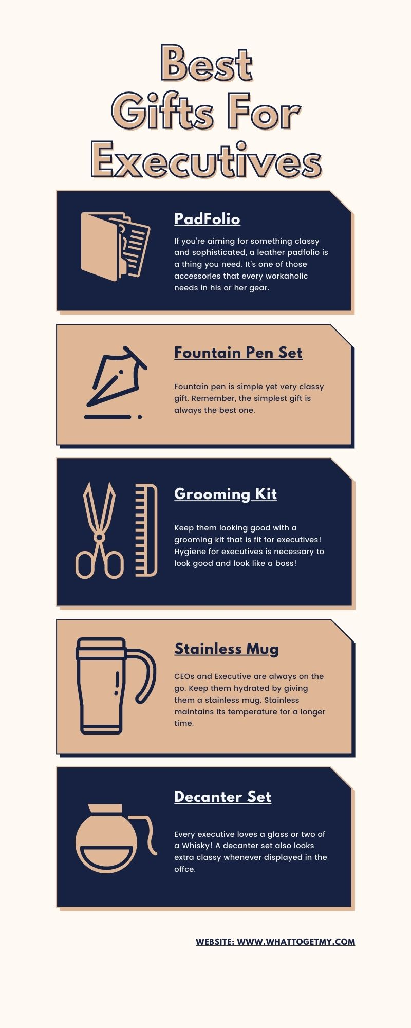 Infographic Best Gifts For Executives