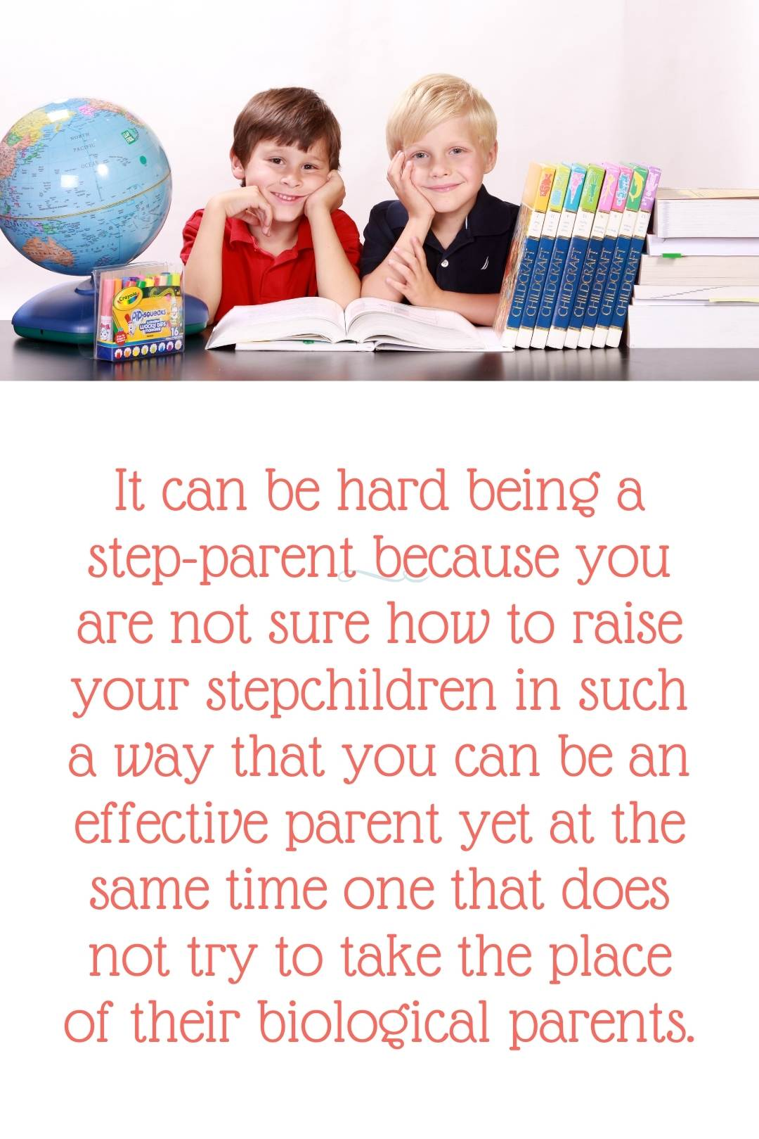 It can be hard being a step-parent because you are not sure how to raise your stepchildren in such a way that you can be an effective parent yet at the same time one that does not try to take the place of their biological parents.